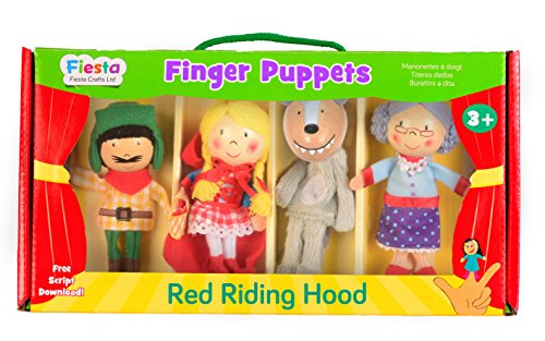 Tellatale Red Riding Hood Finger Puppet Set