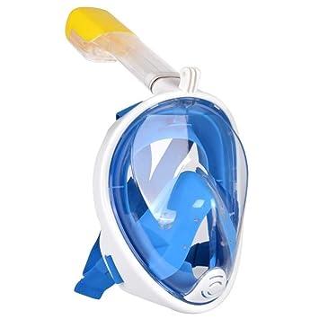 abb1c8a52 Máscara de Mergulho Livre Snorkeling Full Face Com Suporte Para Câmera GoPro  Tamanho L/XL