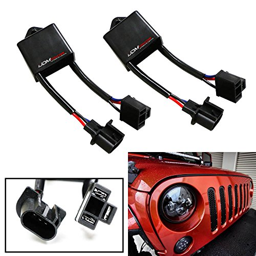 iJDMTOY-2-H4-To-H13-For-Jeep-Wrangler-JK-Anti-Flicker-Decoders-Fit-Any-7-Round-LED-Headlight-Systems