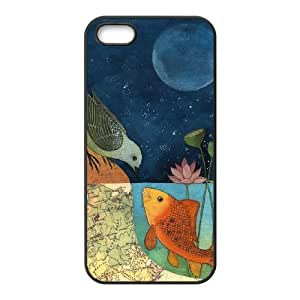 Customized Dual-Protective Case for Iphone 5,5S, Fish love Cover Case - HL-R686062