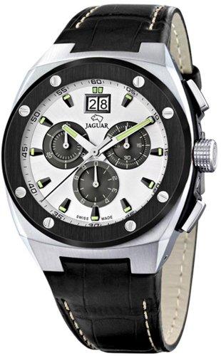 Jaguar J620/A – Reloj de pulsera de hombre, correa de piel color negro