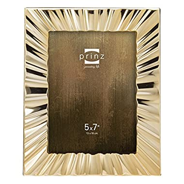 Prinz Marquette Metal Frame, 5 by 7-Inch, Gold