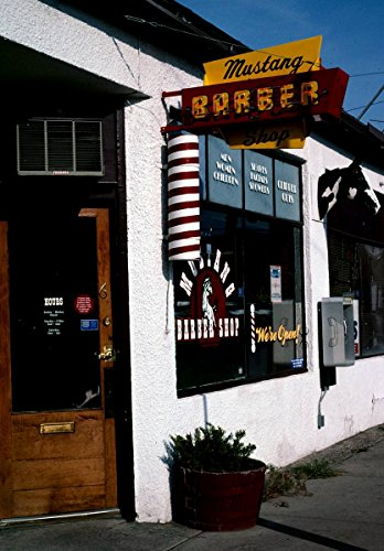 2004 Mustang Pictures - Roadside America Photo Collection | 2004 Mustang Barber Shop, Billings, Montana | Photographer: John Margolies | Historic Photographic Print 24in x 30in