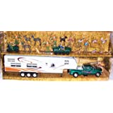 NewRay Toy Truck, Trailer, Camping and Wild Hunting Die-Cast Play Set 1:32 Model