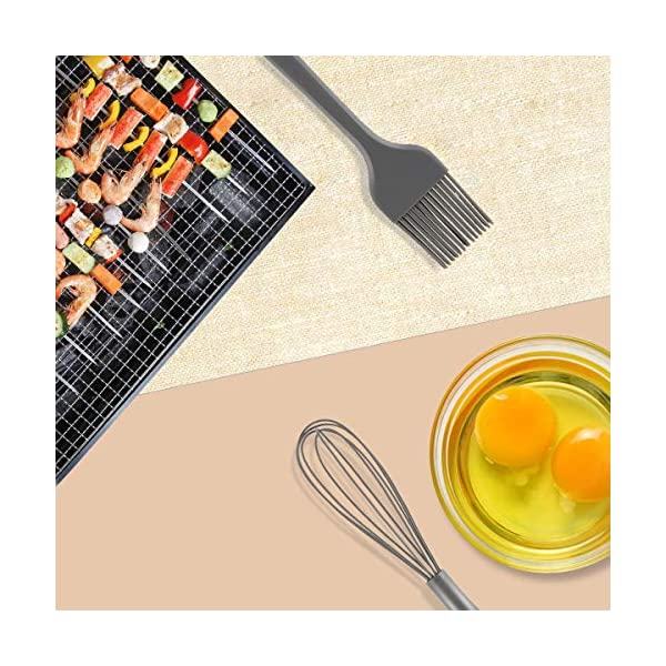 Silicone Cooking Utensil Set, BPA Free 24pcs Silicone Cooking Kitchen Utensils Set with 10pcs hook, Non-stick Heat… 5
