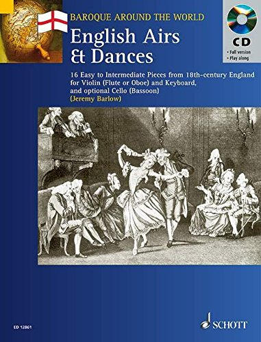 ENGLISH AIRS AND DANCES      VIOLIN AND KEYBOARD BK/CD (Baroque Around the World) - Baroque Keyboard Pieces Book