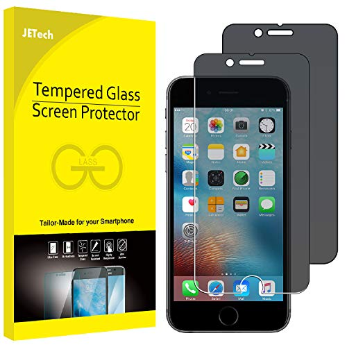 JETech Privacy Screen Protector for Apple iPhone 6 and iPhone 6s, 4.7-Inch, Anti-Spy Tempered Glass Film, 2-Pack