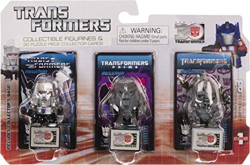 "Megatron ~1.25"" Mini-Figures (Transformers The Movie, Transformers Prime, G1): Transformers 30th Anniversary Series"