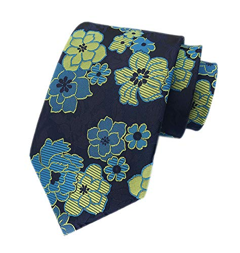 (Big Boys Yellow Blue Navy Silk Ties Polo Formal Clip on Neckties Men Collections)