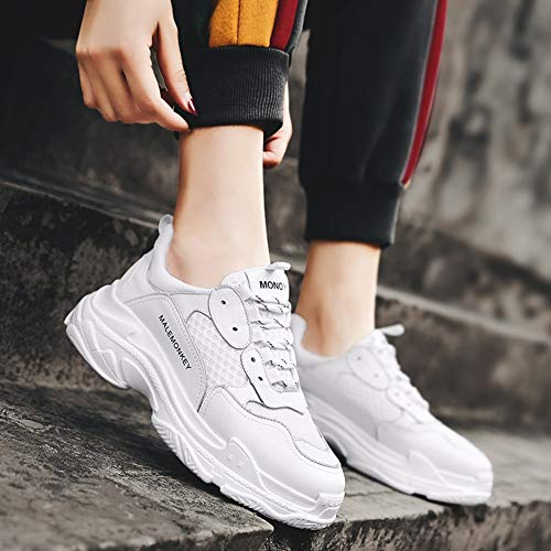 couleur Blanc Sneakers Blanc Respirantes Hwf Walking Sport Casual 39 Course Mesh Pour Chaussures Taille De Femme Pq8Zx5wv7