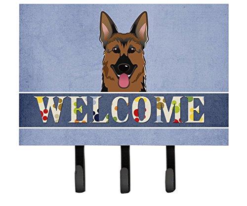 Caroline's Treasures BB1397TH68 German Shepherd Welcome Leash or Key Holder, Large, - German Leash Hook Shepherd