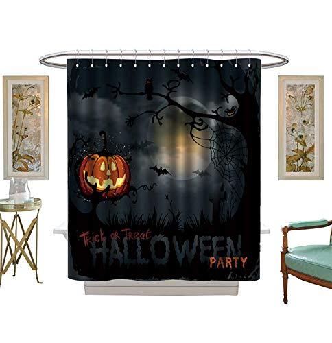 Miki Da Shower Curtains Waterproof Halloween Night Background