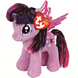 """Official My Little Unicorn Twilight Sparkle Super Soft Plush Toy - 7"""" (Purple with Wings)"""