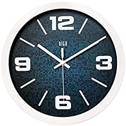 hito Silent Wall Clock Non ticking 12 inch Excellent Accurate Sweep Movement, Modern Decorative for Kitchen, Living Room, Bathroom, Bedroom, Office (B whiteframe)