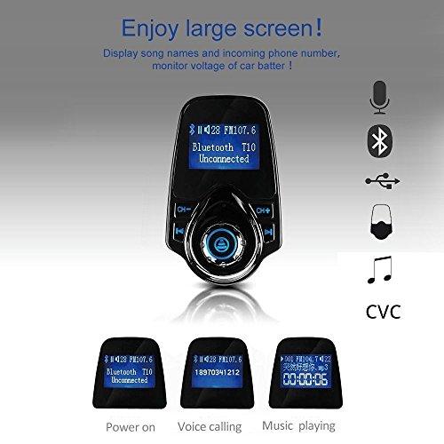 Transmetteur FM de Voiture Lecteur MP3, Allume Cigare Bluetooth kit Main Libre, Port USB 5V / 2.1A, Port Carte Micro SD cheap