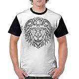 Africa Lion Head Man Short Sleeve T Shirts T-Shirt