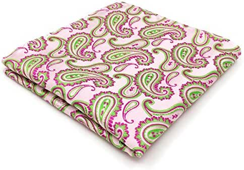 Shlax & Wing Paisley Pink Green Mens Tie Silk Wedding New Design Extra Long