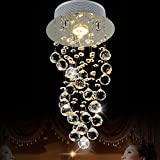 LightInTheBox 35W Crystal Balls Chandelier Luxury Modern Bulb Included , Pendant Lights Ceiling Light Fixture for Living Room, Dining Room, Bedroom