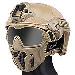 QZY Casque Rapide Tactique MK New Type avec Masque De Ventilateur Intégré Anti-Buée,WST Casque Avancé De Type Saut… 6