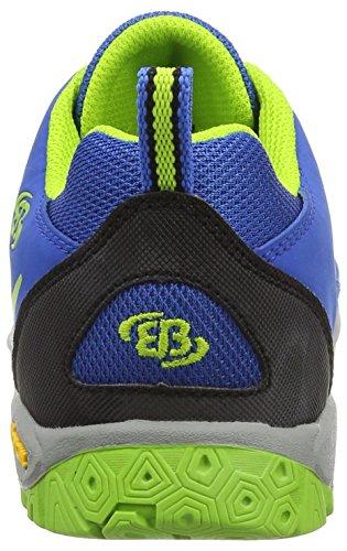 Bruetting Range - Zapatillas de Senderismo Niños Azul - Blau (royalblau/lemon)