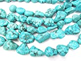 A+ 15-35mm Large Turquoise Gemstone Blue Chips Nuggets Freeform Turquoise Beads Strand 16inch