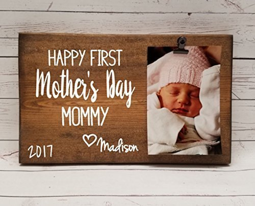 Mother's Day Picture Frame gift! Gift for mom, photo board, picture with clip, gift for grandma, i love you mommy frame, first mother's day FMD