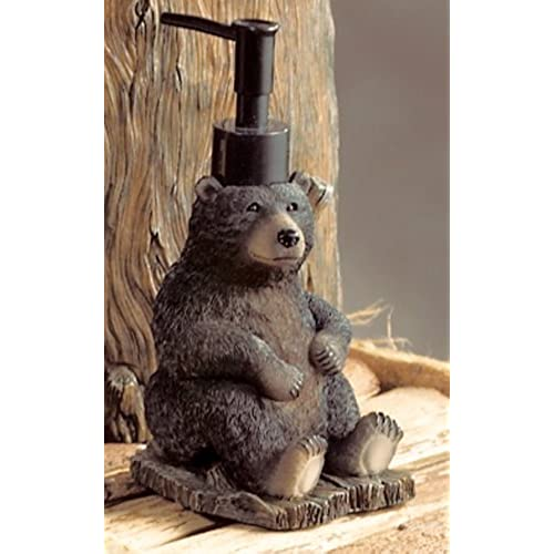 Black Bear Lodge Lotion Pump   Rustic Bath Accessories