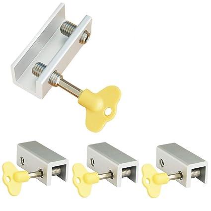 4 piezas de cerraduras ajustables de doble ventana de aleación de aluminio para puerta con cerradura