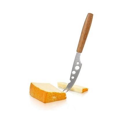 Boska - Cuchillo de queso con mango de bambú (acero inoxidable, 29 x 8