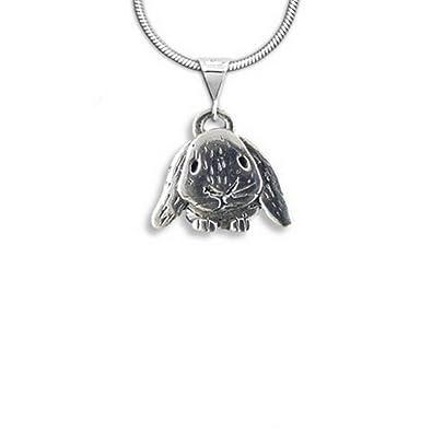 Amazon sterling silver lop eared rabbit pendant by the magic sterling silver lop eared rabbit pendant by the magic zoo aloadofball Choice Image