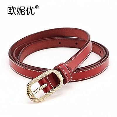 2018 Nouveau style fashion ceinture de cuir ceinture de cuir bien decorative  robe femelles femelles simple c9b45fc3fc3