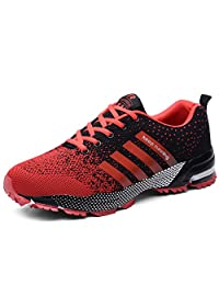 Men Women Running Shoes Casual Sports Shoes Air Cushion Running Trainers Lace-up Sneakers Breathable Athletic Shoes