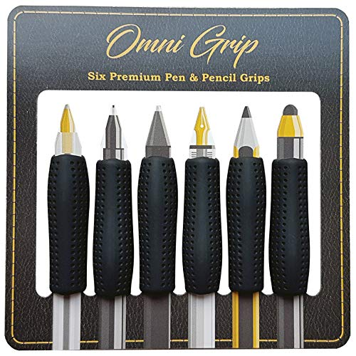 Omni Grip: An Ergonomic, Pen, Pencil, and Stylus Comfort Grip for Adults and Business Professionals- 6 Count Hand-Writing (Pens/Pencils Not Included)