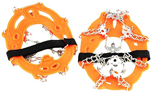 Rongbenyuan Professional Rock Climbing Gear Mountain Snow Outdoor Crampons 19 Teeth, 1 Pair, Orange by Rongbenyuan