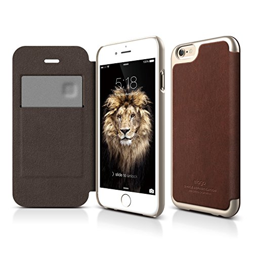 iPhone elago Leather Brown Champagne
