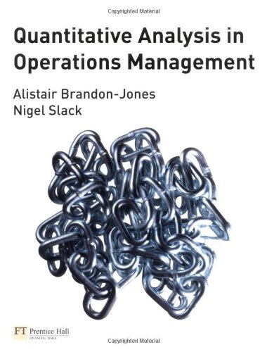 Read Online Quantitative Analysis in Operations Management PDF