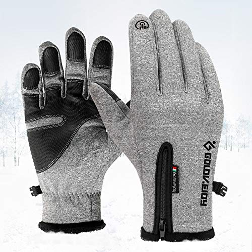 Touchscreen Winter Soft Warm Non-Slip Touch Screen Texting Climbing Skiing Waterproof Gloves for Men Women gloves