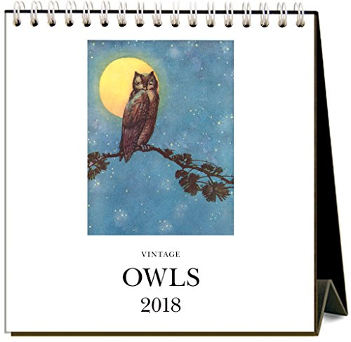 Found Image Press Owls 2018 Easel Desk Calendar (Owl Desk Calendar)