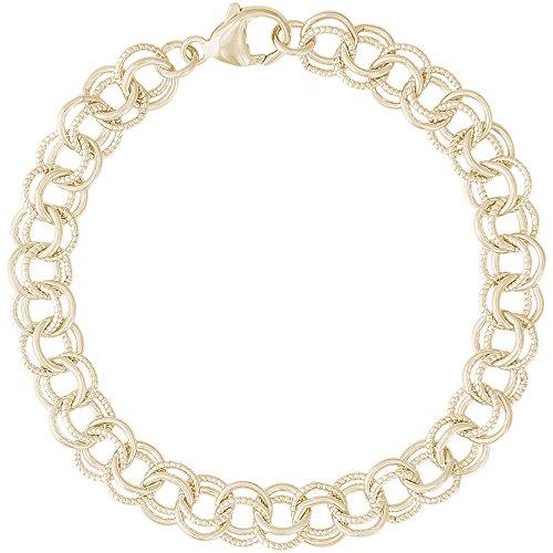 10k Yellow Gold Charm Bracelet, 8 inch, Charm Bracelets for Women & Girls by CharmsToTreasure Bracelets