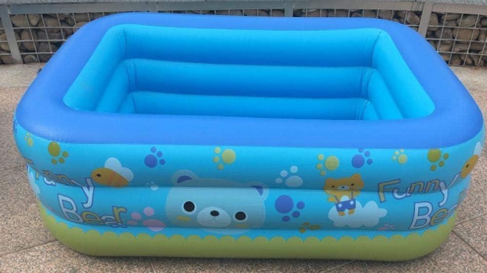 RÁPIDO Configuración de colocación Simple Swim Center Family Lounge Piscina Infantil Rectangular para niños Piscina Inflable de Diferentes tamaños para niños Ocean Family 130 * 95 * 50 con Bomba: Amazon.es: Jardín