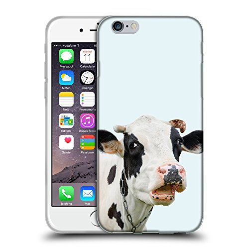 """GoGoMobile Coque de Protection TPU Silicone Case pour // Q05710619 Vache curieuse bolle // Apple iPhone 6 PLUS 5.5"""""""