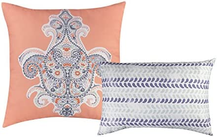 Baltic Linen Henna Decorative Pillow Set, Multicolor