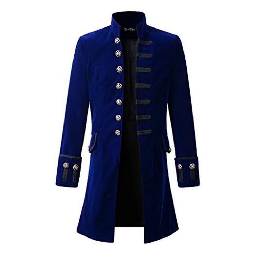 SHINEHUA mäntel Herren Herbst Winter, Herren Print-Mantel Frackjacke Gothic Gehrock Uniform Kostüm Party Oberbekleidung Outwear Sweatshirt Oberbekleidung Sweatjacke Winterjacke