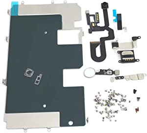 E-REPAIR Screen Assembly Metal Bracket Front Camera Flex Cable Small Parts Set Replacement for iPhone 8 Plus (5.5 inch) (Silver)