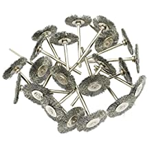 Yasumai 20 Pc Cup Wheel Brush Polishing Buffing Mini steel Wire Brush for Dremel Die Grinder Rotary Tools