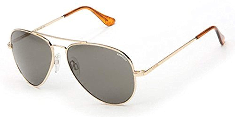 a9e1f4f8f6 Amazon.com  Randolph Concorde 23K Gold Skull Temple Gray Non-Polarized  Sunglasses  Clothing