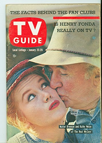 1960 TV Guide Jan 23 The Real McCoys - Pittsburgh Edition NO MAILING LABEL Very Good to Excellent (4 out of 10)...