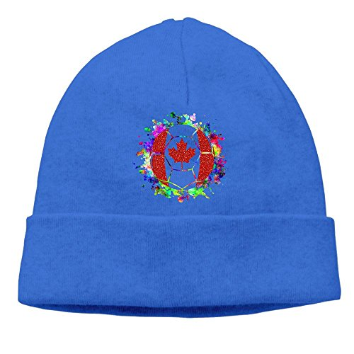Canada Paint Splatter Flag Soccer Ball Unisex Fashion Beanie Knit Hat Cap - Canada Times To Delivery Usps