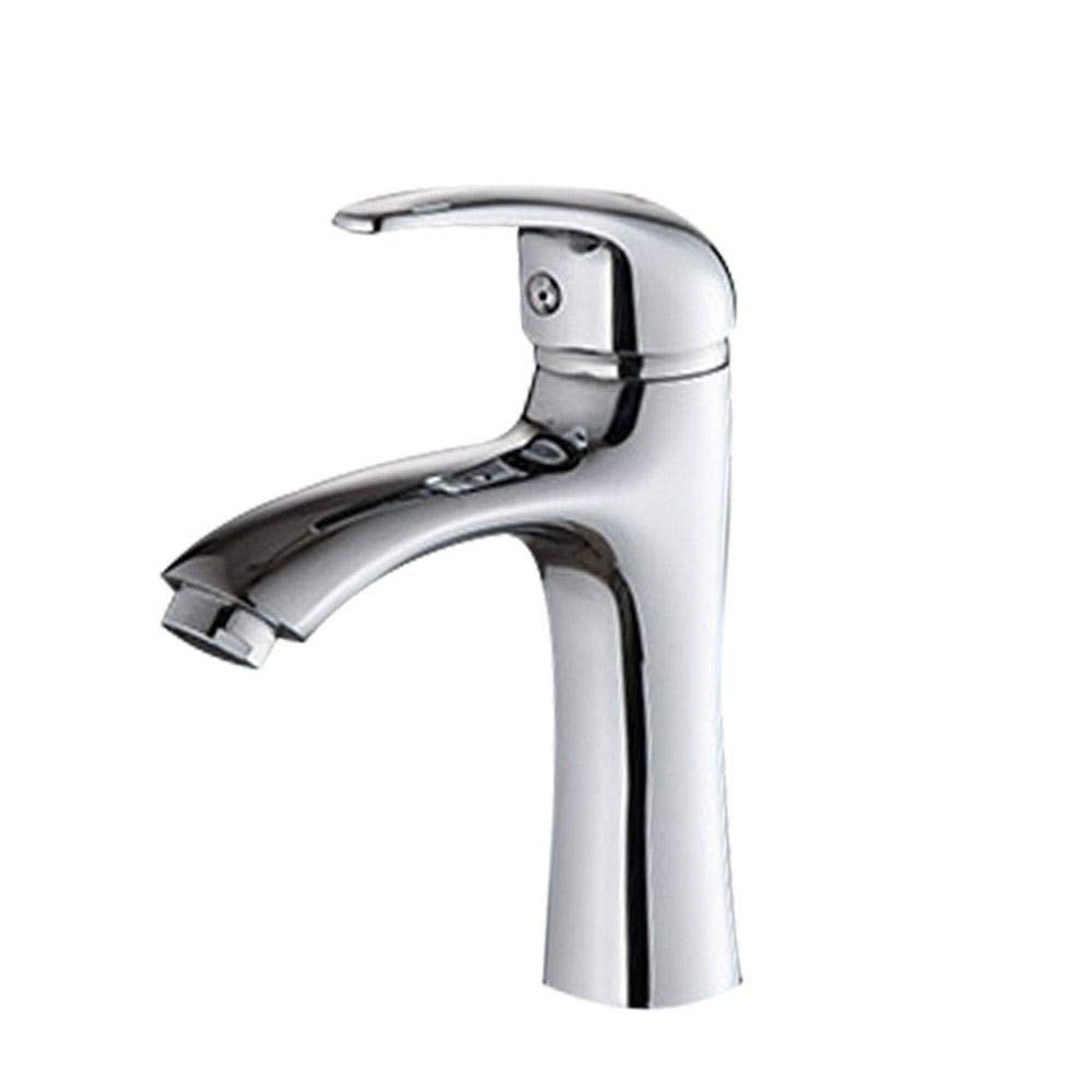 (Body + Grip + Spool + Elbow High Angle + Hose) Hlluya Professional Sink Mixer Tap Kitchen Faucet One cold water faucet solid brass kitchen faucet single hole single cold water faucet, Body + grip + spool + elbow high angle + Hoses