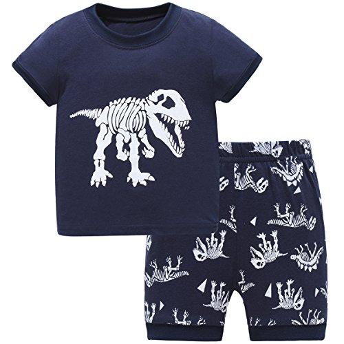 Hugbug Boys Dinosaurs Pajamas 2 7T